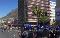 Confrontations between police and student protestors outside Parliament