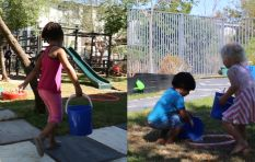 [WATCH] Preschoolers pumped to sprinkle playground with grey water #WaterWatch