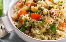 Shrimp and chorizo pilaf