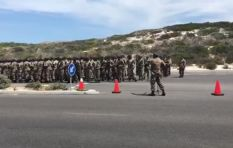 [WATCH] SANDF members hilariously mess up a supposedly easy practice run