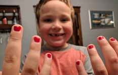 Dad challenges toxic masculinity after his son bullied for wearing nail polish