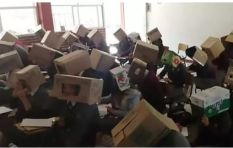 Teacher stops pupils from cheating in exam by putting boxes over their heads
