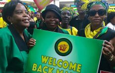 "ANC Women's League and Youth League sing ""My President"" to welcome Dlamini-Zuma"
