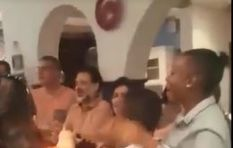 [WATCH] French choir joins restaurant staff in singing an SA song