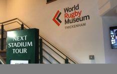 John Robbie visits the World Rugby Museum, Twickenham