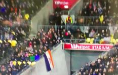 [PICTURES] Old SA flag brandished at Bok rugby game in NZ
