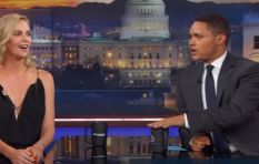 Trevor Noah and Charlize Theron have a cute SA moment on US telly
