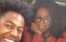 [WATCH] Oprah roasts student about his cracked phone, then buys him a new one