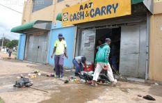 Police confronts protestors over xenophobic attacks in Durban city centre