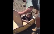 White South African raises money for coffin assault victim