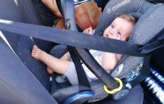 Mom of baby saved by seat-belt speaks of her joy