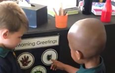[WATCH]  A hug, a high five or a fist pump, classmates greeting goes viral