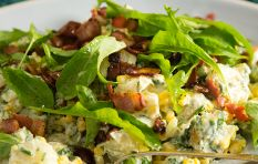 How to make bacon and corn potato salad (aka The Best Braai Side Ever)