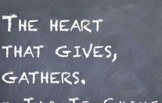 The heart that gives, gathers (but be careful you don't spoil the receiver)