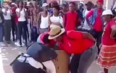 [WATCH] EFF supporters littering as UFS student cleans up