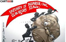 [Cartoon] The wheel turns for Zuma