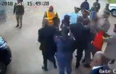 [VIDEO] Gate camera footage shows Julius Malema in altercation with soldier