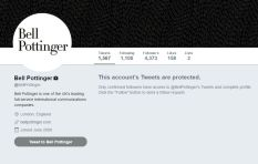 Bell Pottinger and employees resort to protecting their twitter accounts