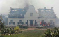Houses burn as fire sweeps through Gordon's Bay