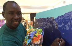 Former car guard Erick Karangwa painting full time