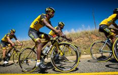 Catch Team Dimension Data for Qhubeka in studio with John Maytham on Thursday