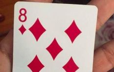 When did you notice this on the 8 of diamonds playing card?