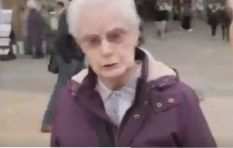 [WATCH] Old lady shares her views on UK PM, calls him a filthy piece of toe rag