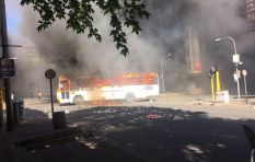 Wits students set bus alight