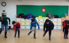 [WATCH] SA teacher in Korea showing pupils how to gumboot dance goes viral