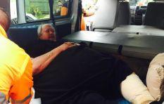 Paramedics have successfully transported Corrie La Grange