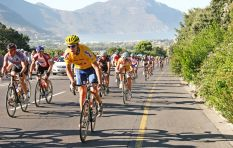 Cape Town Cycle Tour under way in relatively windy conditions