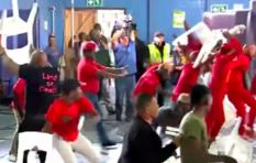 [VIDEO] SABC election debate devolves into chair-throwing brawl
