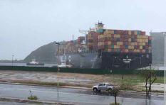 WATCH: Cargo ship runs aground amid #DurbanStorm