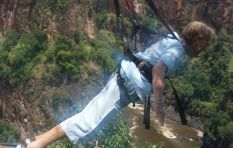 95 year old granny takes a fun flying leap off Vic Falls #YOLO