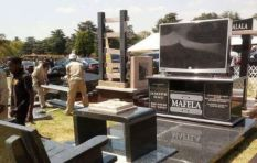 Lebohang Khitsane makes cutting edge tombstones (fancy a QR code on yours?)