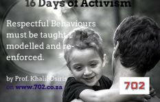 #16Days: Respectful Behaviours must be taught, modelled and re-enforced