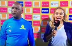 [WATCH] Mosimane's reaction to Moroccan team leaves social media in stitches