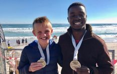 Refugee, 12-year-old complete Robben Island swim for charity