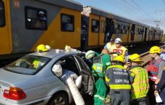 Train crash at Lakeside rail crossing leaves two injured