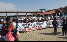 Protesters hand over memorandum calling for removal of  Mahlangu and Hlongwa
