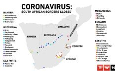 These SA borders and ports to be closed