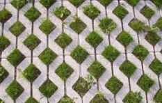 How to cut back overgrown grass from pavers