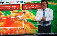 [WATCH] Weatherman vents on air after Bachelorette fans whine over tornado alert