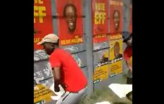 [WATCH] Malema apologises for EFF members seen tearing down ANC election posters