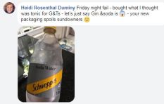 Schweppes leaves a bad taste in consumers mouth with their branding mix-up