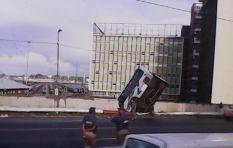 PICTURES AND EYEWITNESS ACCOUNT: Metrobus breaks through bridge barrier