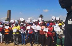 Protesters prepare to march to Union Building over service delivery grievances