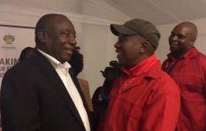 [WATCH] Ramaphosa congratulates Malema, says 'jealous down'