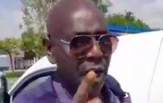 [WATCH] Seemingly drunk cop asks  'Het jy my getoets?'