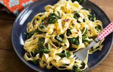 How to make fresh, saucy linguine (thin, flat pasta) like an Italian